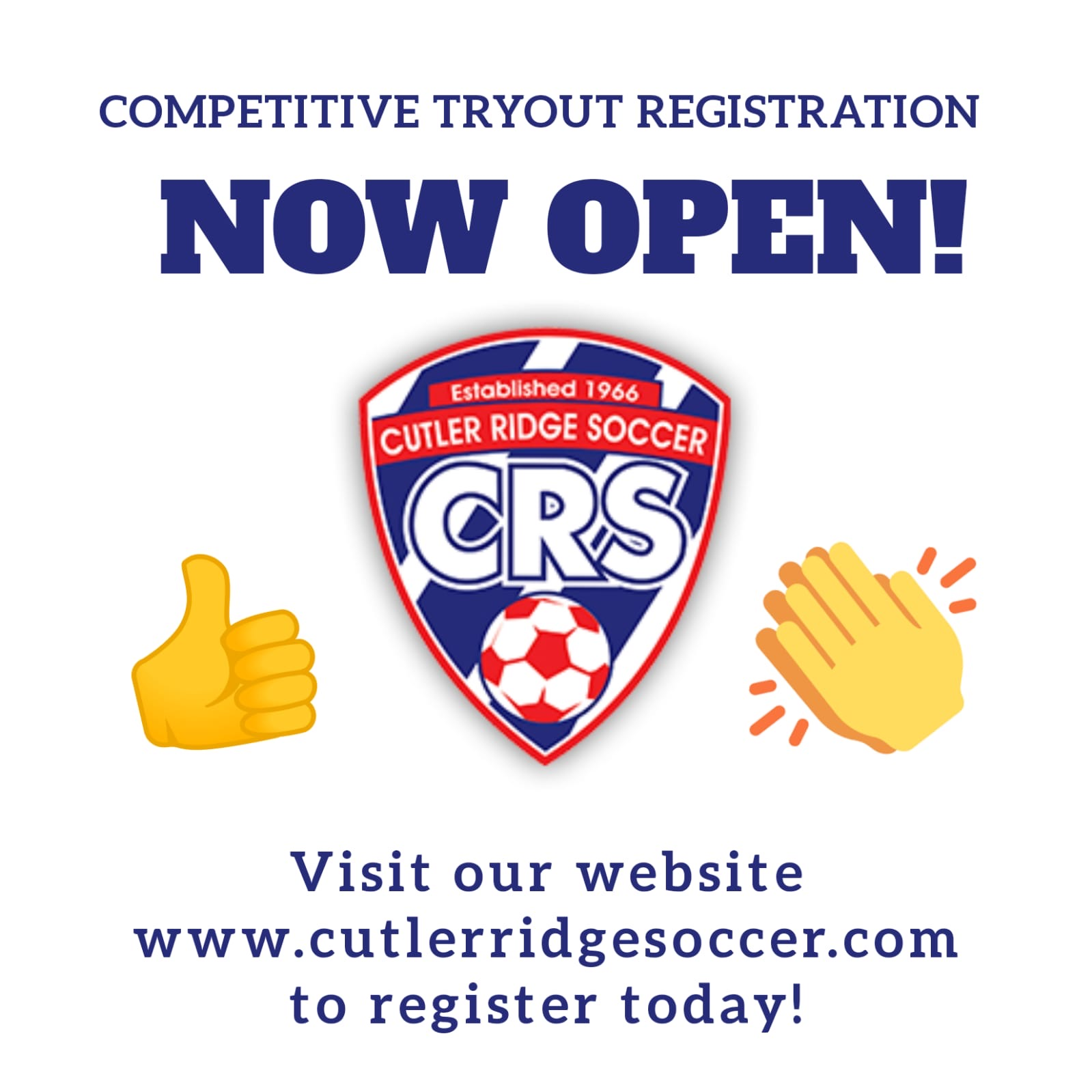 2020 Tryouts Now open